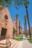 Gammal kyrka i i stadens centrum Phoenix Arizona royaltyfri foto