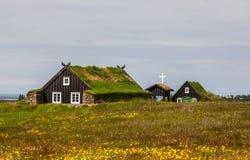 Gammal kyrka i Island Arkivfoton