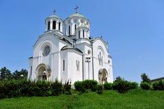 Gammal kyrka i Lazarevac, Serbien Arkivbilder