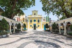 Gammal kyrka i Macao Arkivbilder