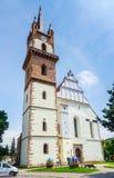 Gammal kyrka i Miercurea Ciuc Arkivbild