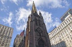 Gammal kyrka i New York City Royaltyfria Bilder