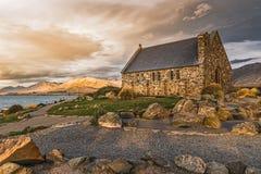 Gammal kyrka i Nya Zeeland fotografering för bildbyråer