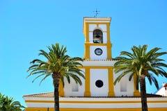 gammal kyrka i San Perdo de Alcantara Arkivbilder