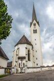 Gammal kyrka i Sillian Arkivbild