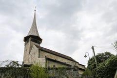Gammal kyrka i spioner arkivfoton
