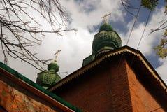 Gammal kyrka i Yaroslavl (Ryssland) Arkivbild