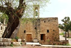 Gammal kyrka, Libanon Royaltyfri Fotografi