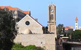 Gammal kyrka, Libanon royaltyfria bilder