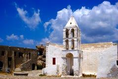 Gammal kyrka på den Kythera ön Royaltyfri Foto