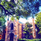 Gammal kyrklig arkitektur Arkivfoto