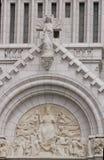 Gammal kyrklig framsida i Kanada Royaltyfria Bilder