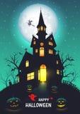 Gammal kyrklig halloween bakgrund vektor illustrationer