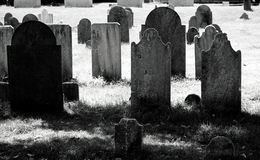Gammal kyrkogård Fotografering för Bildbyråer