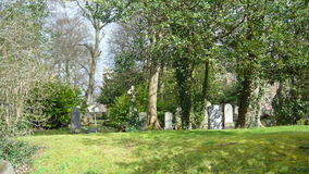 gammal kyrkogård Royaltyfri Foto