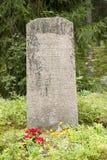 Gammal kyrkogård av den Wrede familjen 4 September 2018 - Anjala, Kouvola, Finland royaltyfria foton