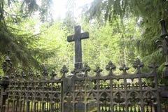 Gammal kyrkogård av den Wrede familjen 4 September 2018 - Anjala, Kouvola, Finland fotografering för bildbyråer
