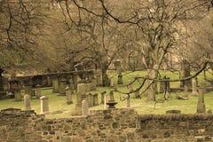 Gammal kyrkogård i Edinburg Royaltyfria Foton