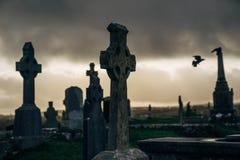 Gammal kyrkogård i Irland Arkivbild