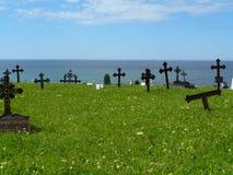 Gammal kyrkogård i Norge Fotografering för Bildbyråer