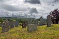 Gammal kyrkogård, St Ives, Cornwall, England Arkivfoton
