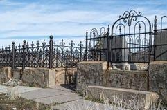 Gammal kyrkogårdplats Arkivfoto