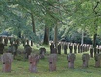 Gammal kyrkog?rd i stuttgart i Tyskland royaltyfria foton
