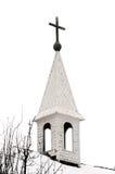 gammal kyrktorn för kyrkligt land Royaltyfri Bild