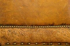 Gammal läderbakgrund Royaltyfria Foton