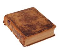Gammal läderbibelbok Arkivfoto