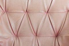 Gammal lädertextur av soffan Arkivbilder