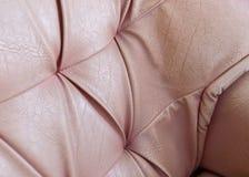 Gammal lädertextur av soffan Royaltyfria Bilder