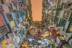 Gammal lägenhet i Hong Kong Arkivfoto