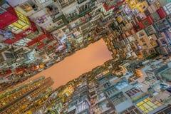 Gammal lägenhet i Hong Kong Arkivbilder