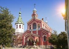 Gammal Ladoga Nikolsky kloster, förmodligen 13th århundrade Ryssland Royaltyfria Foton