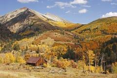 Gammal ladugård nära Telluride, Colorado Arkivbilder