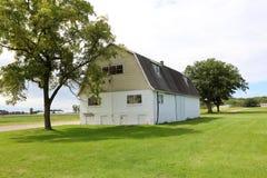 Gammal ladugård på lantgården i Michigan USA arkivbild