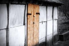 gammal ladugårddörr Royaltyfri Foto