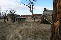 gammal lantgård Arkivfoton
