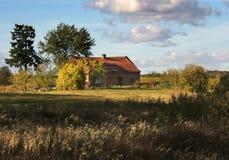 gammal lantgård Royaltyfri Fotografi