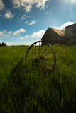 Gammal lantgård i Island Arkivfoto