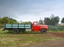 Gammal lantgårdlastbil arkivbild