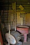 Gammal lantlig bondaktig lantbrukarhemtvätteri Royaltyfri Fotografi