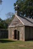 Gammal lantlig kyrka Arkivbilder