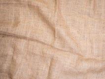 Gammal lantlig säckvävtappningbakgrund, bästa sikt för foto Hessians som plundrar textur, bakgrund för din design Fotografering för Bildbyråer