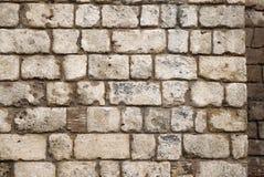 Gammal lantlig stenvägg Fotografering för Bildbyråer