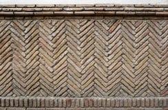 gammal lantlig vägg för tegelsten Royaltyfria Foton