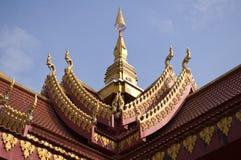 Gammal Laos tempel Arkivbild