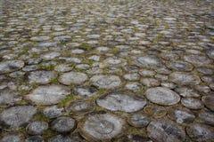 Gammal lappad trottoar Arkivfoto