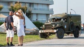 Gammal lastbil av USA-armén arkivbilder